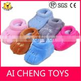 lovely plush baby shoes baby wormer shoes infant plush shoes