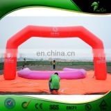 China Factory Supply Beautiful Red Color Advertising Inflatable Arch, Inflatable Finish Line Arch, Inflatable Entrance Arch