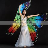BestDance Isis wings Egyptian Opening Belly Dance Costume Rainbow Butterfly Angel Isis Wings Belly Dancer Isis Wings OEM