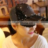Fashion custom baseball cap with sequins for women