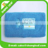 Blue wristband embroidery country logo cotton sweat band