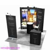 Aluminum Frame Trade Show Booth Podium Counter Pop Up Kit with spotlights