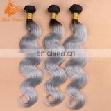 wholesale Cheap 1b/grey two toned ombre color Body wave Virgin Malaysian Hair Bundle