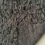 Ostrich fur immitation plush knit polyester fabric