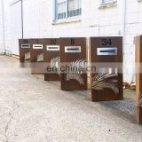 Customized New Style Outdoor Waterproof Rusty Corten Letterbox