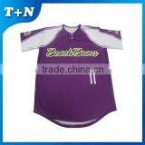China wholesale full sublimation print women baseball jersey custom