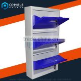 Metal furniture steel body frame wall mounted shoe racks for store