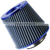 "UNIVERSAL BLUE 3"" INLET RACE PERFORMANCE CONE AIR FILTER 3"" COLD AIR INTAKE"