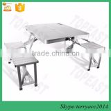 China factory Folding Camping Portable Picnic BBQ Table 4 Chair Outdoor Garden Set                                                                         Quality Choice