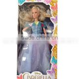 wholesale Fashion Princess blue Dress Outfit Beautiful Clothes for Barbie CINDERELLA Doll Children girls gift