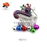 New Fashion Popular Alloy Rhinestone Excellent Christmas Promotional Items Snow Flake Brooch