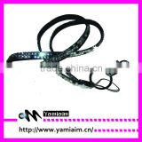 2015 Trendy crystal neck lanyard two row bling rhinestone lanyards