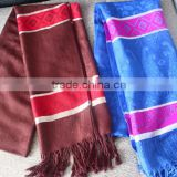 High quality fashionable rainbow elephant rayon shawl muslim hijab custom scarf printing services