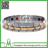Fashion stainless steel jewelry healthcare bio magnetic energy bracelet stainless steel men bracelet