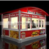 Customization outdoor bubble tea kiosk , Drink kiosk outdoor , Ice cream kiosk design with OEM ODM appreciated