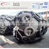 pneumatic yakahama type rubber fenders with chain protection net