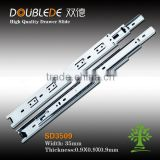 3509 3-fold ball bearing full extention drawer slide/ keyboard tray telescopic channel/cupboard drawer slide