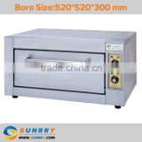 Professional stainless steel bakery equipment single deck industrial turkey electric oven for bread price