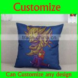 Modern style butterfly girl novelty design linen fabric pillow and plain linen fabriv pillow cover