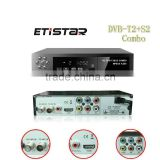 Etistar Customized TV Box full hd 1080p digital black DVB T2 S2 set top box Combo satellite receiver                                                                         Quality Choice