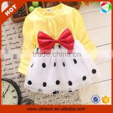 Good quality beautiful casual autumn long sleeve kids tshirt dress for 75-105 cm (Ulik-A0385)