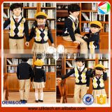 high quality boys and girls set Korea style boutique cardigan sweater school uniforms kids clothing set V neck student uniform