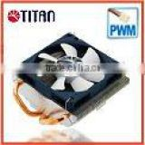 Intel LGA 775 1U low profile server 2 x 6mm heat pipe PWM controller TDP 115W CPU fan cooler