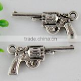 Silver DIY Charms, Hunter Jewelry Craft Supplies, Gun Pendant Charms