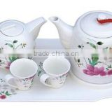 Chinese tradition design porcelain ceramic electric kettle set tea pot with ceramic cup 1.0L-2