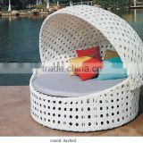 ourdoor rattan wicker leisure garden round daybed with canopy
