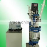 2L jacketed glass reactor with condenser