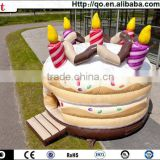 Newest professional design lovely cake commercial bouncy castles for sale