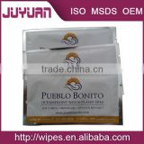 Cleaning Use and Adults Age Group disposable individual packed customized Airlines wet wipes