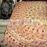 Hand Embroidered King Size Bed Spread