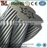 Galvanized / Ungalvanized steel wire rope 1x7,7x7,1x19,6x36,7x19,1x37,7x37 with plastic cover