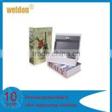 high security metal locking fake book box