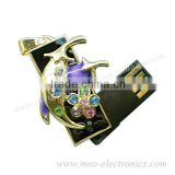 2013 Hot Sales Twist Gift USB Flash Drive/ USB flash Customized Logo with Key Chain