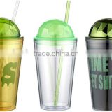 16oz double wall manufacturers reusable starbucks plastic coffee tumbler mugs with lid &straw