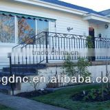 Outdoor wrought iron stair railings