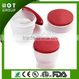 Foldable salad bowl with lid, Colectible Plastic Container, Collapsible Bowl, Collapsible Container
