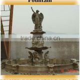 Marble fountain, marble water fountain, outdoor statue fountain