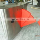 CE Approved Security Passage Turnstile Gate with IR Sensor,alarm,Double Swing,Lane Width can be Max 900mm