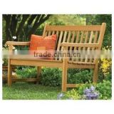 Outdoor Teak wood benches for pool beach