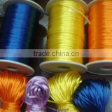 Satin cord Jewelry making supplies-blue yellow orange color china knot satin cord for jewelry DIY making and craft supplies