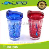 BPA Free BPS Free Food Grade Plastic Tritan Material Double Wall Funny Mugs with Lid & Straw