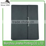 Office Stationery Printing Diary Clasp A4 Size Leather Looseleaf Binder Embossed Padfolio Notebook