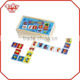 Hot Children Game / Baby Brain Development Play Toy Wooden Vehicle Domino