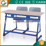 double school desk with bench