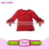Wholesale boutique children ruffle shirt cotton baby kids icing top girls icing sleeves baby blank raglan t shirt wholesale                                                                                                         Supplier's Choice