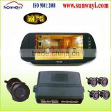 car mirror display parking sensor kits with backup cameras with bluetooth for car reversing aid